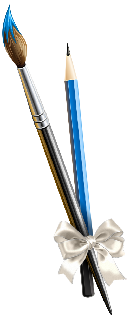 Набор кисточка и карандаш