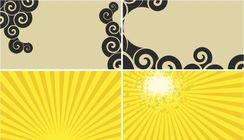 Фон желтый, бежевый, лучи